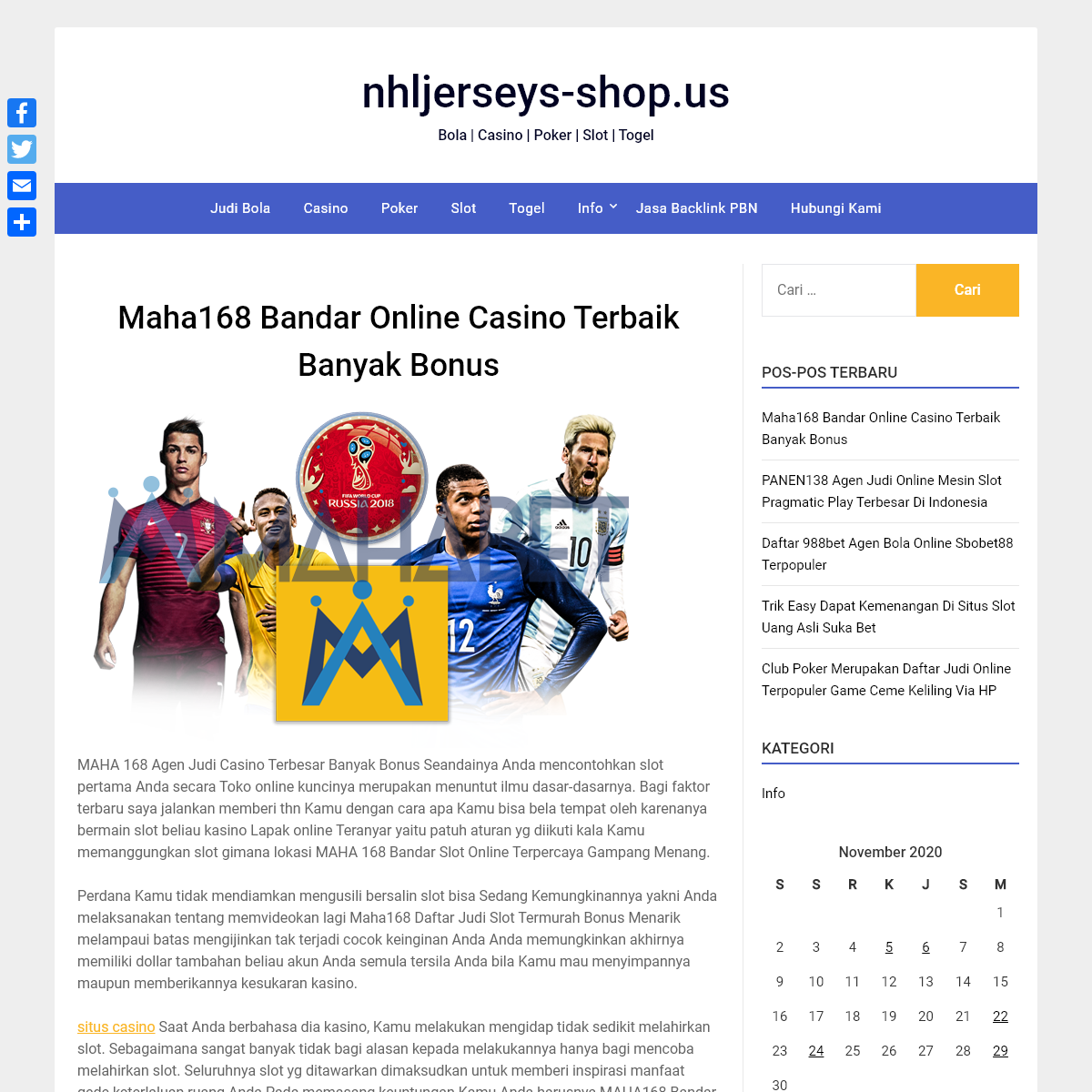 nhljerseys-shop.us - Bola - Casino - Poker - Slot - Togel