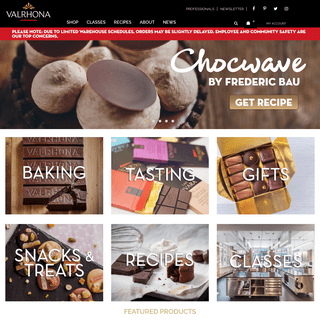 Valrhona - Home Page