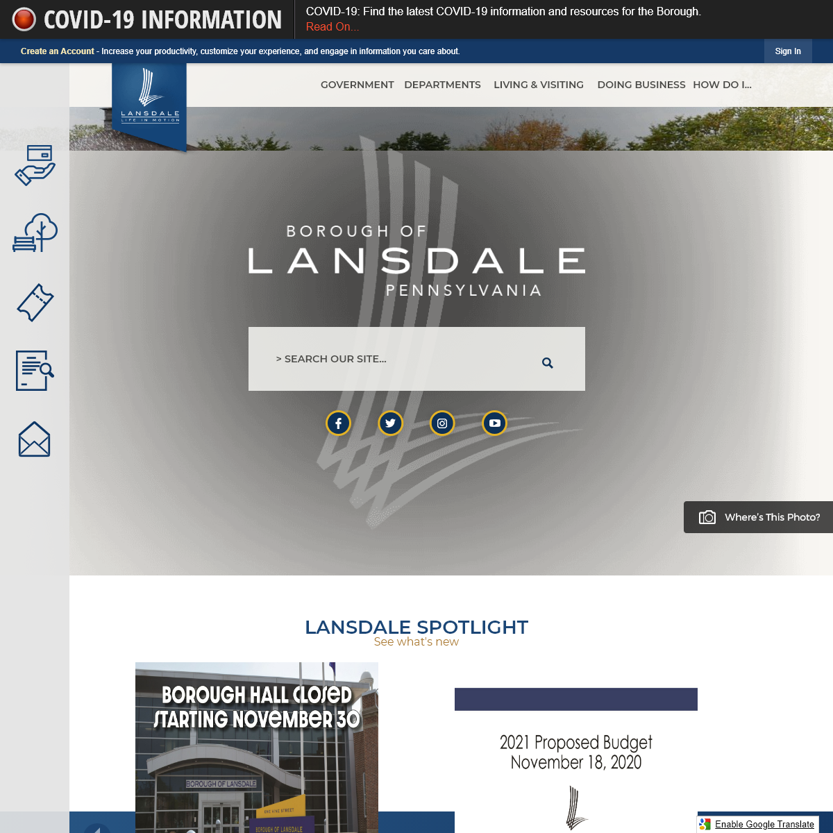 Lansdale Borough, PA - Official Website - Official Website