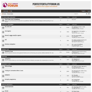 perfectfertilityforum.us - Index page