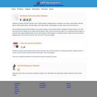 CAM Development - Quality Software for Home and Business