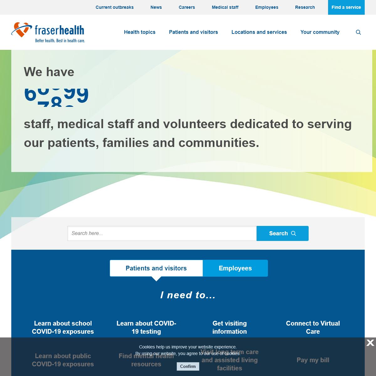 Home - Fraser Health Authority