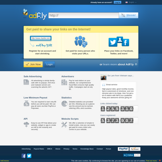 AdFly - The URL shortener service that pays you! Earn money for every visitor to your links.