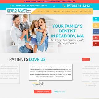 General Dentist Peabody - Spiro Saati, DMD - Cosmetic Dentsitry
