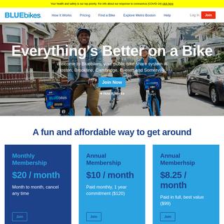 Bluebikes- Metro-Boston`s Bikeshare Program - Blue Bikes Boston