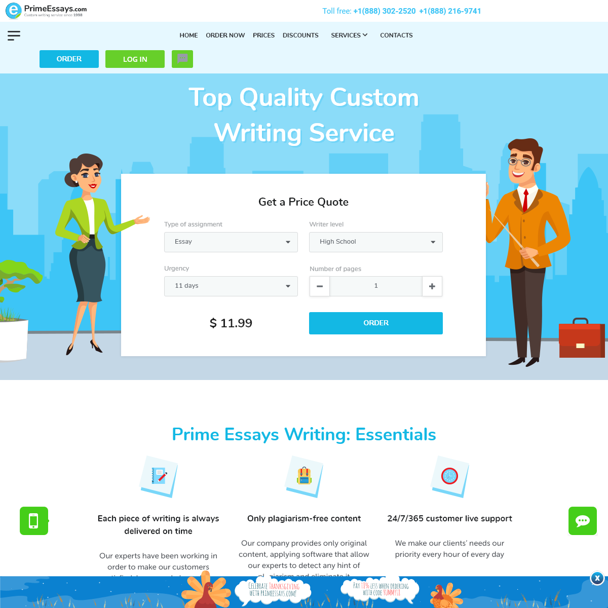 PrimeEssays.com- buy perfect quality essays