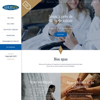 Spas d'hôtels, centres de santé-beauté et spas nordiques - Amerispa