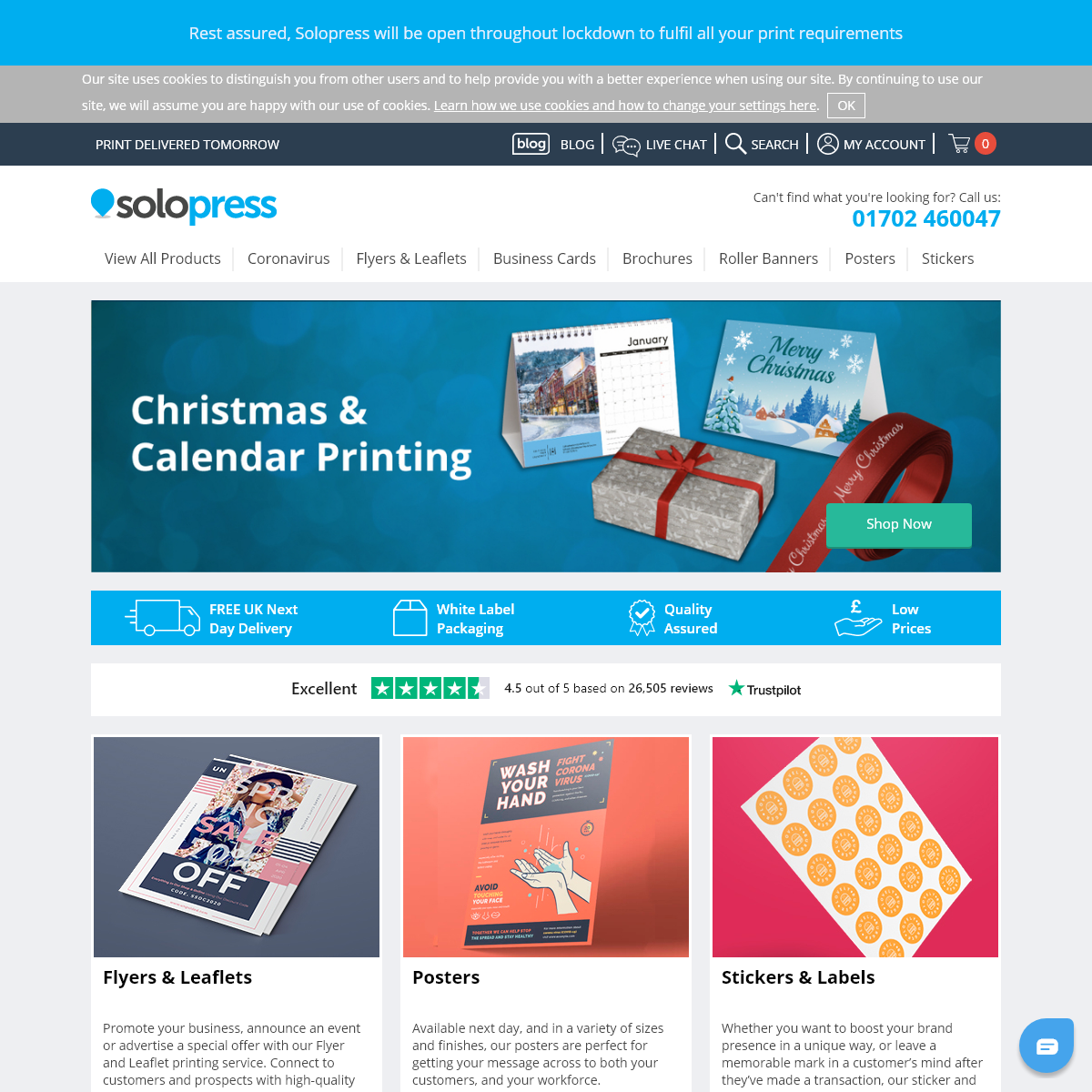 Online Printing Services with Next Day Delivery - Solopress UK