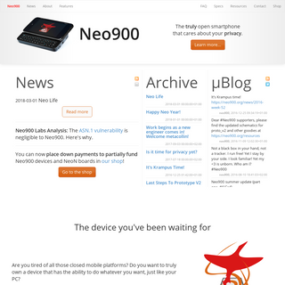 A complete backup of neo900.org
