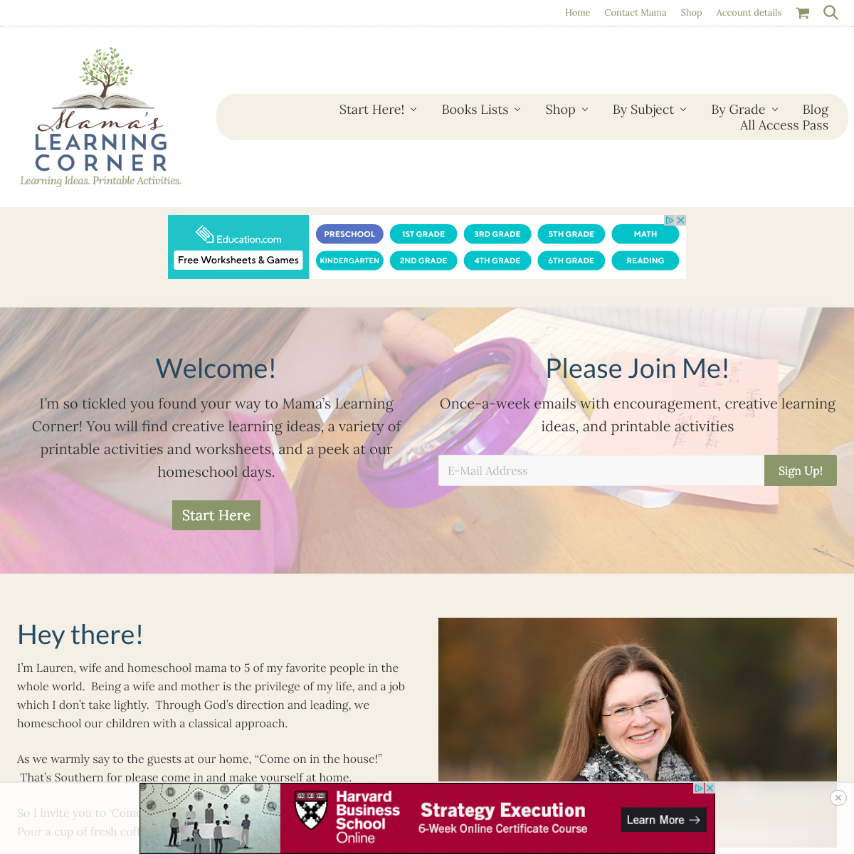 Mamas Learning Corner - A Place to Learn, A Place to Grow