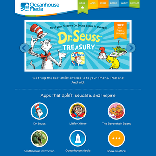 Oceanhouse Media - Digital Story Book Apps for Kids on iPhone, iPod Touch, iPad & Android