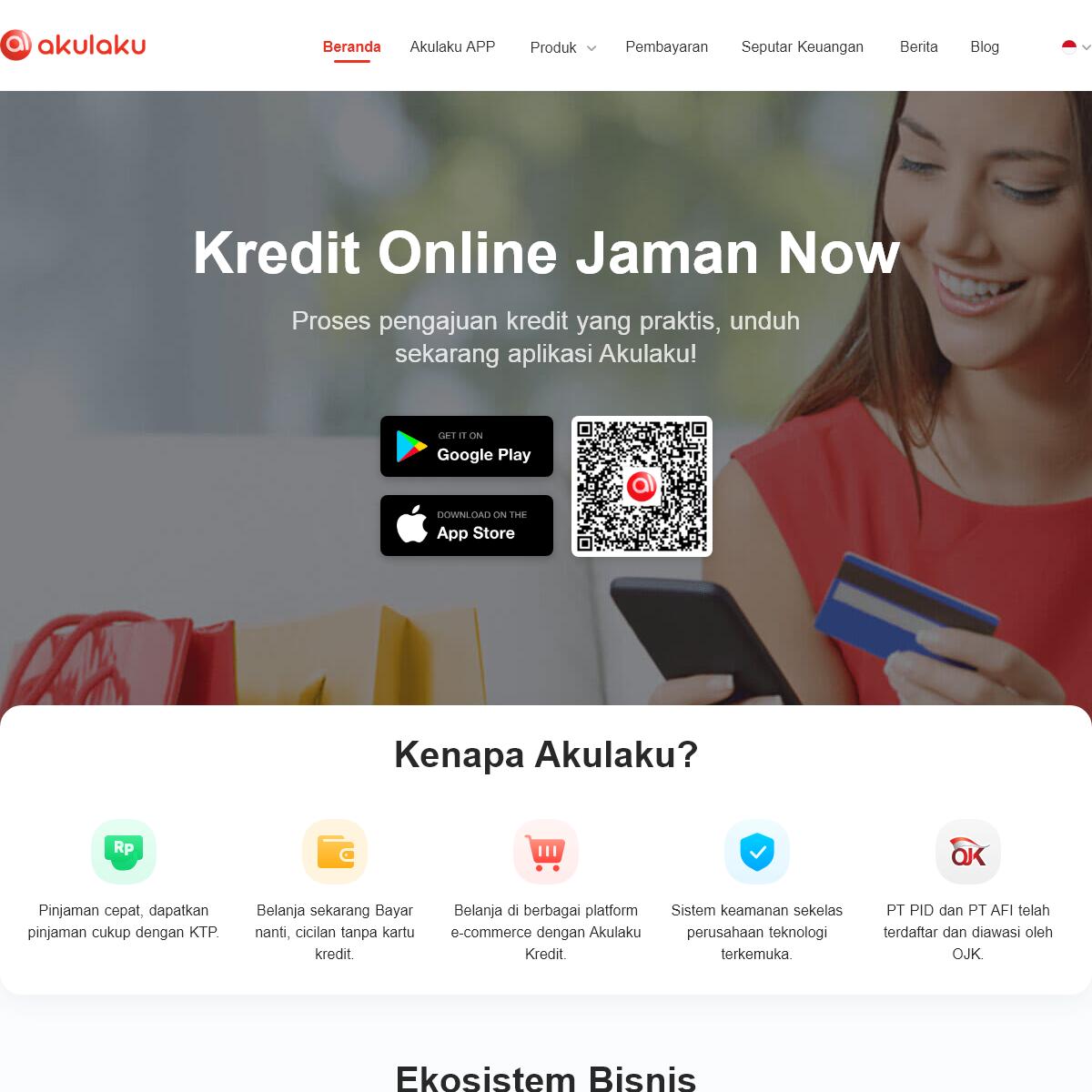 Kredit Online dan Pinjaman Online Jaman now - Akulaku Indonesia