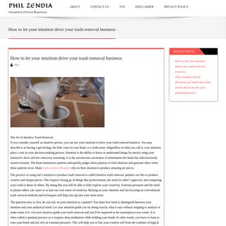 Phil Zendia - Intuition Driven Business