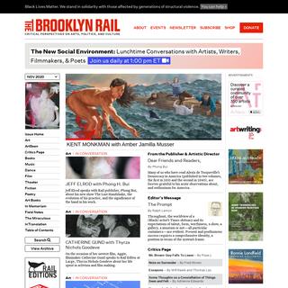 NOV 2020 – The Brooklyn Rail