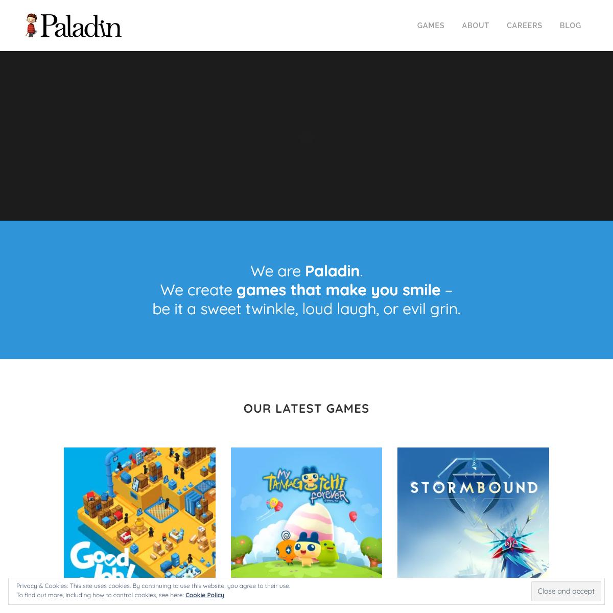 Paladin Studios - games that make you smile