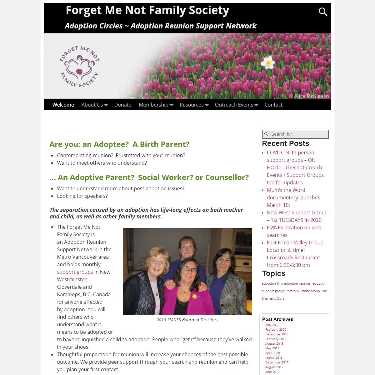 Forget Me Not Family Society – Adoption Circles ~ Adoption Reunion Support Network