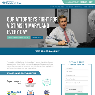 Maryland Personal Injury + Criminal Defense Attorneys- Rice Law