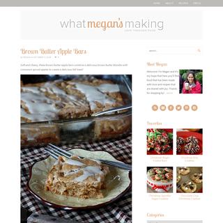 What Megan`s Making - Love through Food