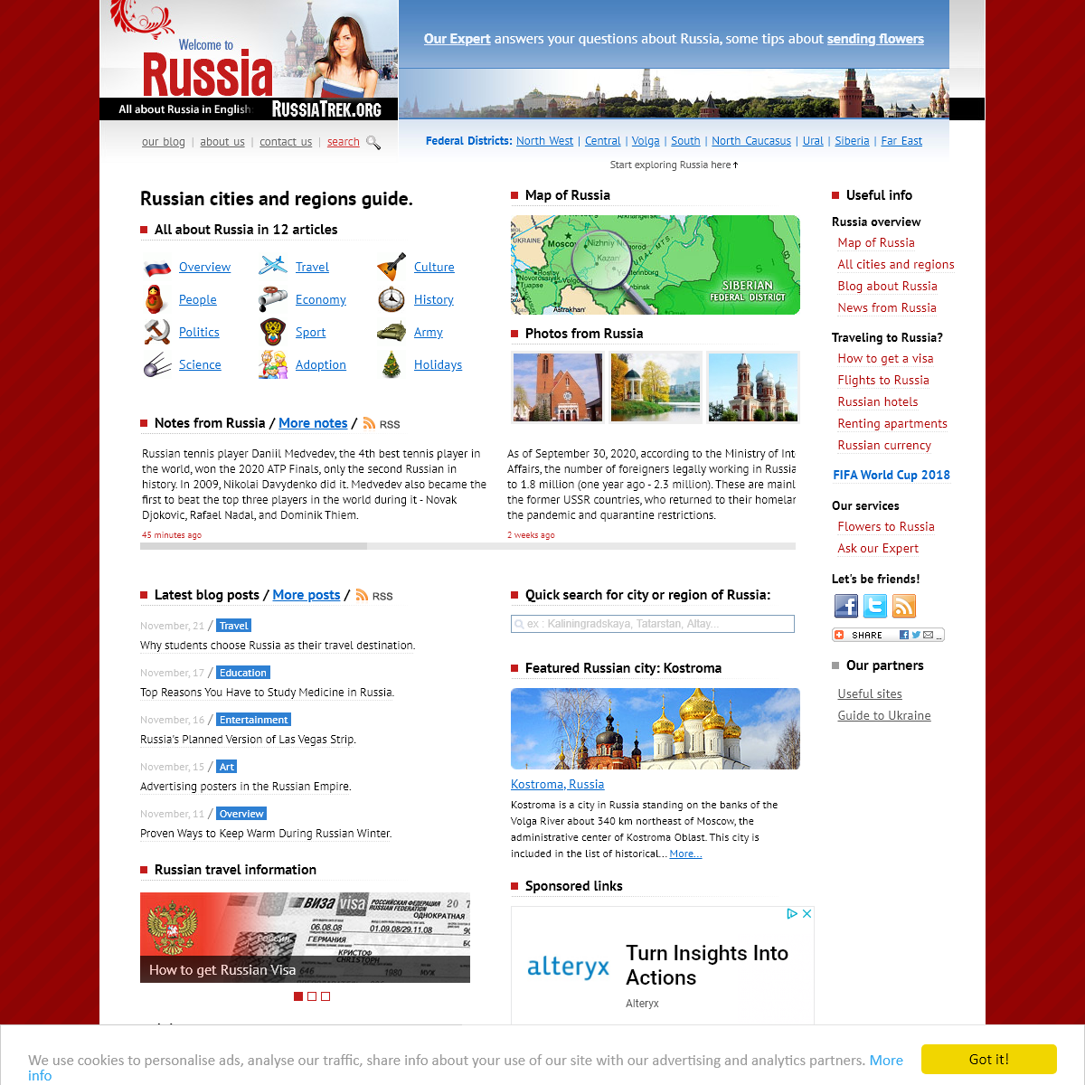 Russian cities and regions guide