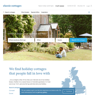 Classic Cottages - Holiday cottages to get excited about