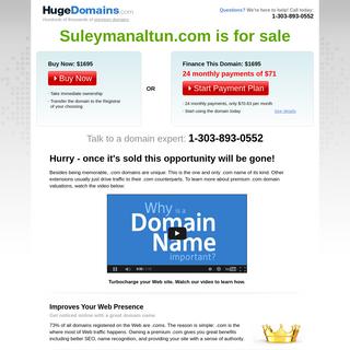 HugeDomains.com - Suleymanaltun.com is for sale (Suleymanaltun)