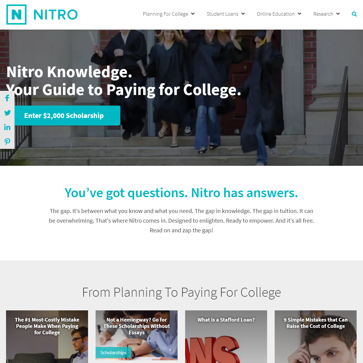 How to Pay For College- The Complete Guide from Nitro