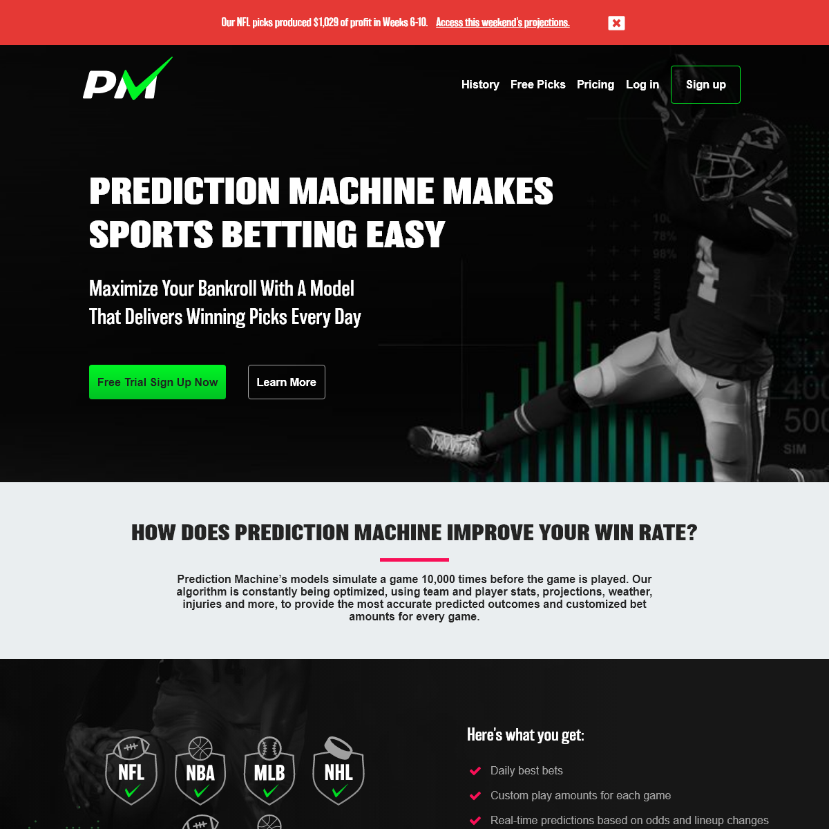 Prediction Machine - Sports Betting and Fantasy Projection Models