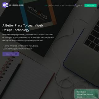 Web Designing Course in Chennai - WDC