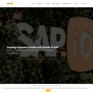 SAP.iO - The early-stage venture arm for SAP