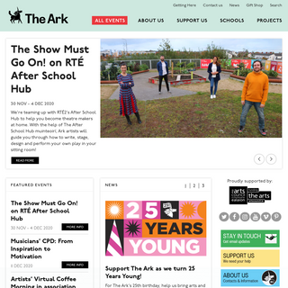 Home - The Ark, Dublin. Creative Arts Activities for Children
