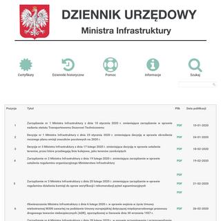 Home - Dziennik Urzędowy Ministra Infrastruktury