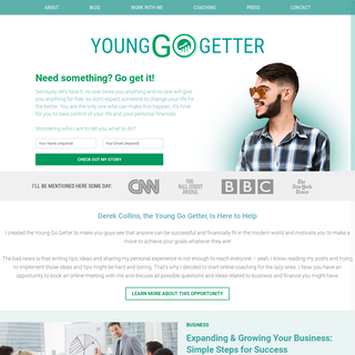 Reaching for the Top in Business and Finance with the Young Go Getter