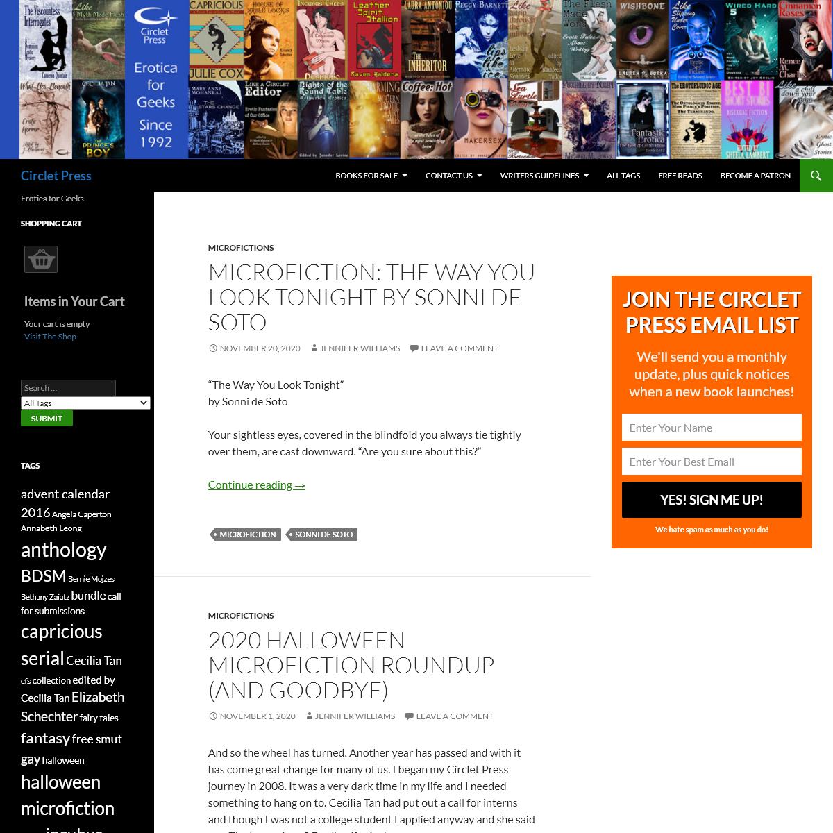 Circlet Press - Erotica for Geeks
