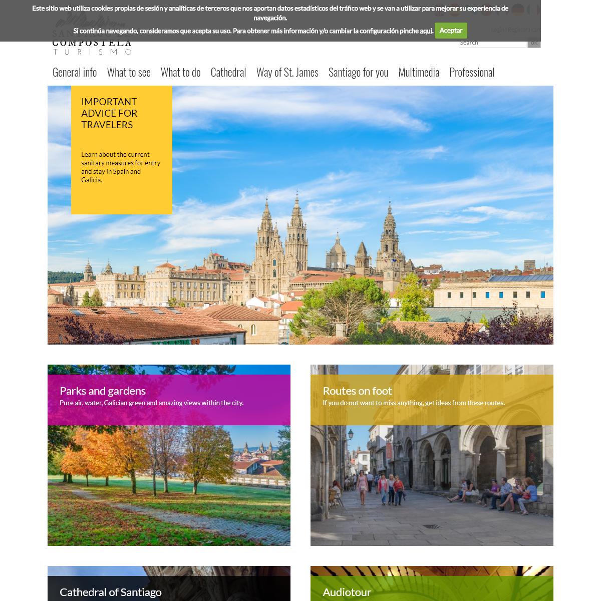 Portada - Official Tourism Website of Santiago de Compostela and its Surroundings