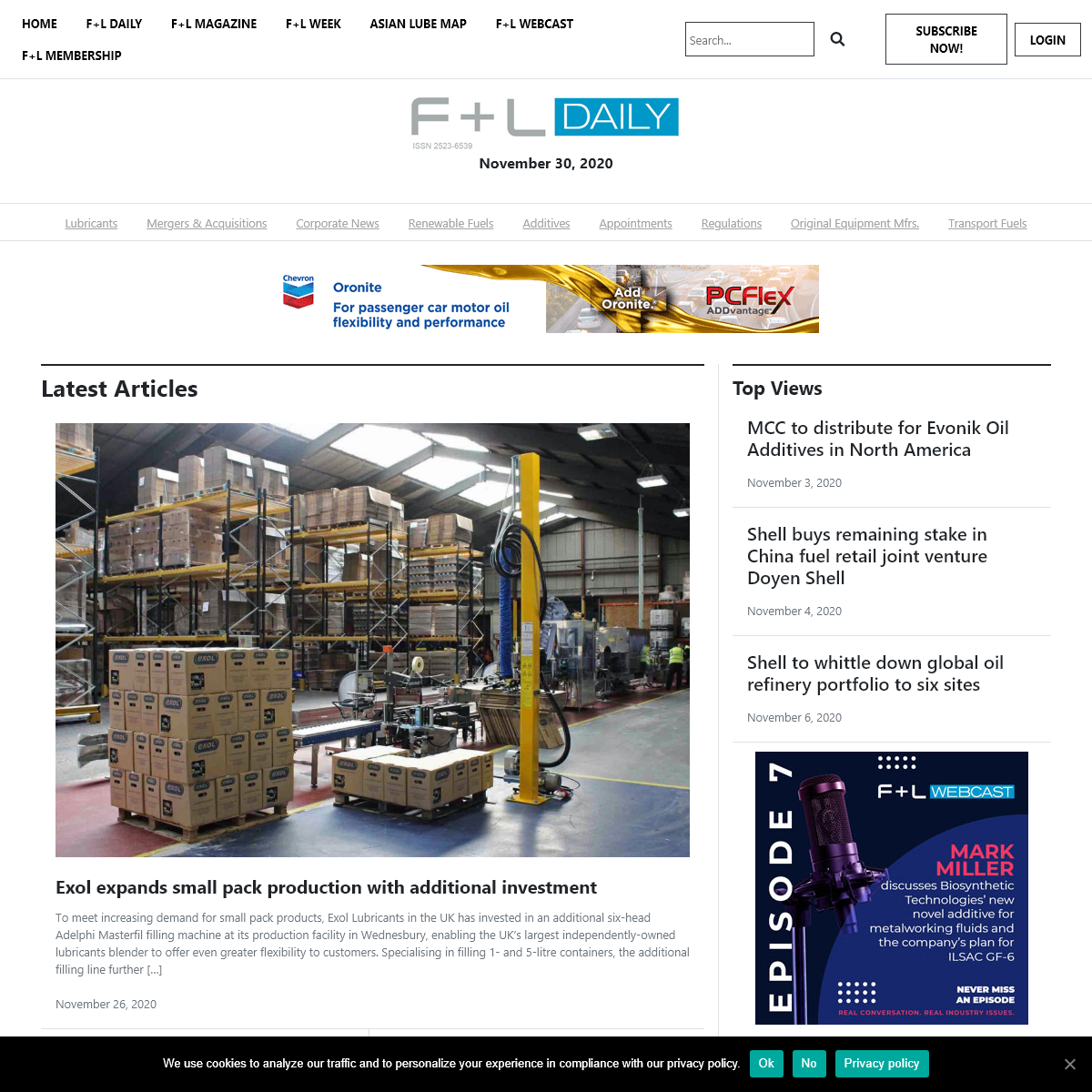 F+L Daily is first with the latest fuel and lubricant industry news