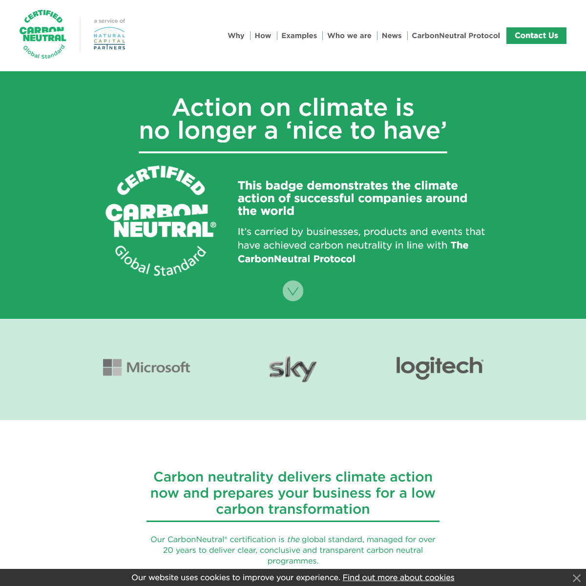 The leading solution for companies to be carbon neutral certified