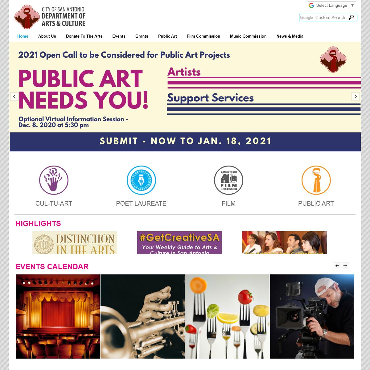 Get Creative San Antonio - City of San Antonio - Texas - GetCreativeSanAntonio.com