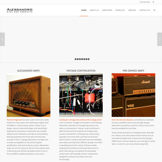 Alessandro Products - High-End Products for the Musical Enthusiast