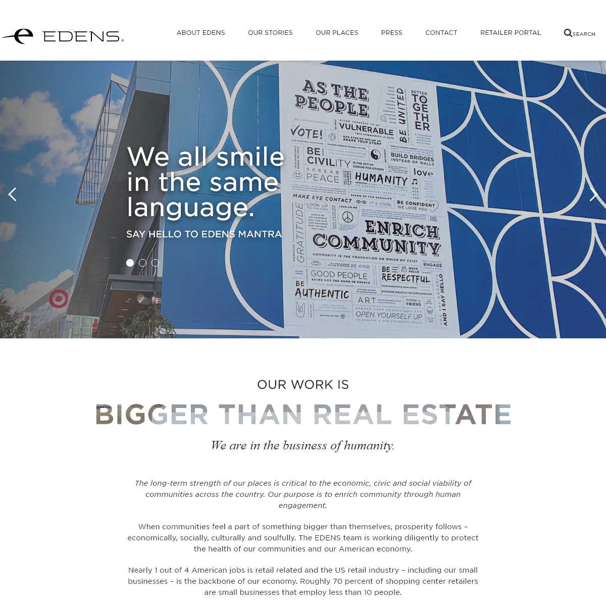 Home - EDENS - Real Estate Owner, Operator and Developer of over 125 Properties