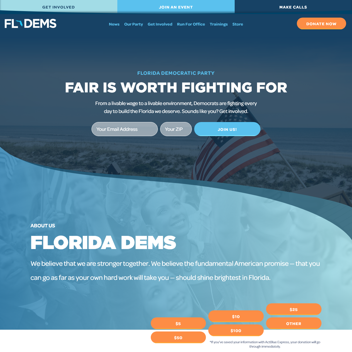 Florida Democratic Party - Fair is Worth Fighting For