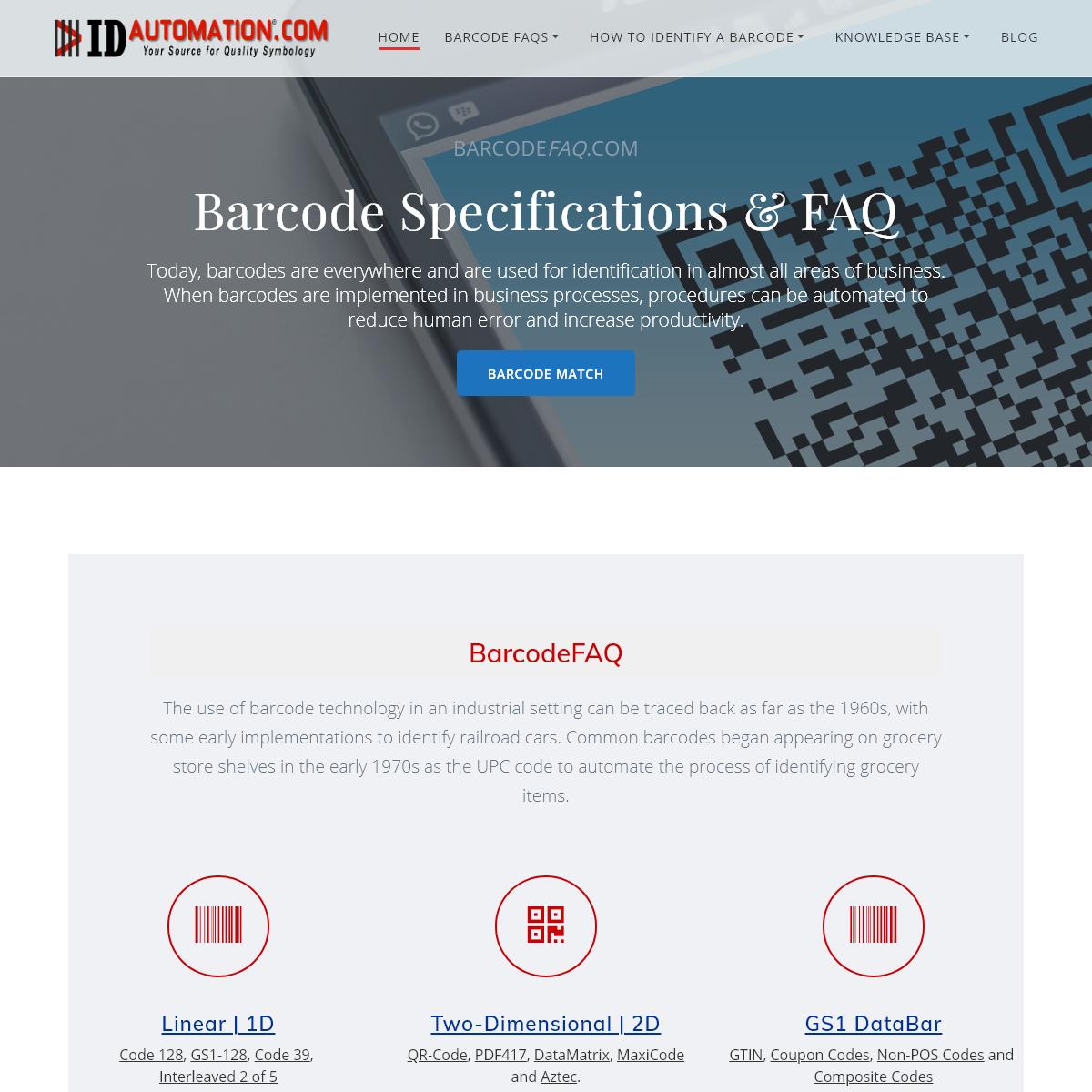 Barcode Tutorials, FAQs & Reference Guides at BarcodeFAQ