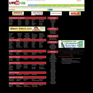Watch Pakistani & Indian TV Channels Online via Internet Free - livetv.pk
