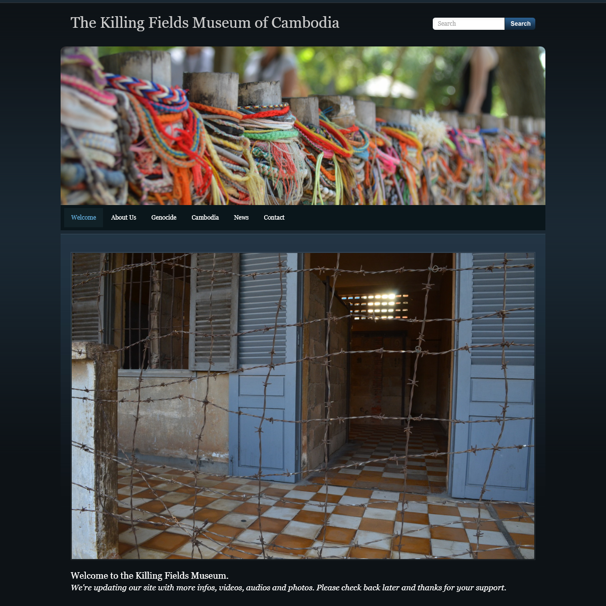 The Killing Fields Museum of Cambodia - Welcome
