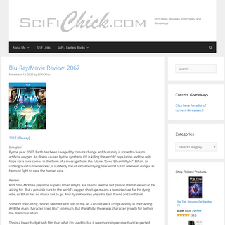 SciFiChick.com – SF-F News, Reviews, Interviews, and Giveaways