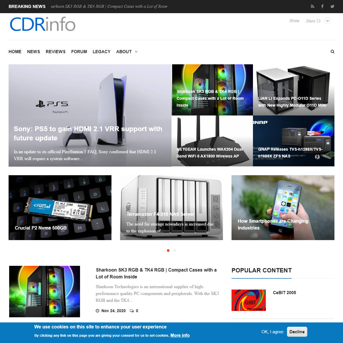 CdrInfo.com - The hardware authority
