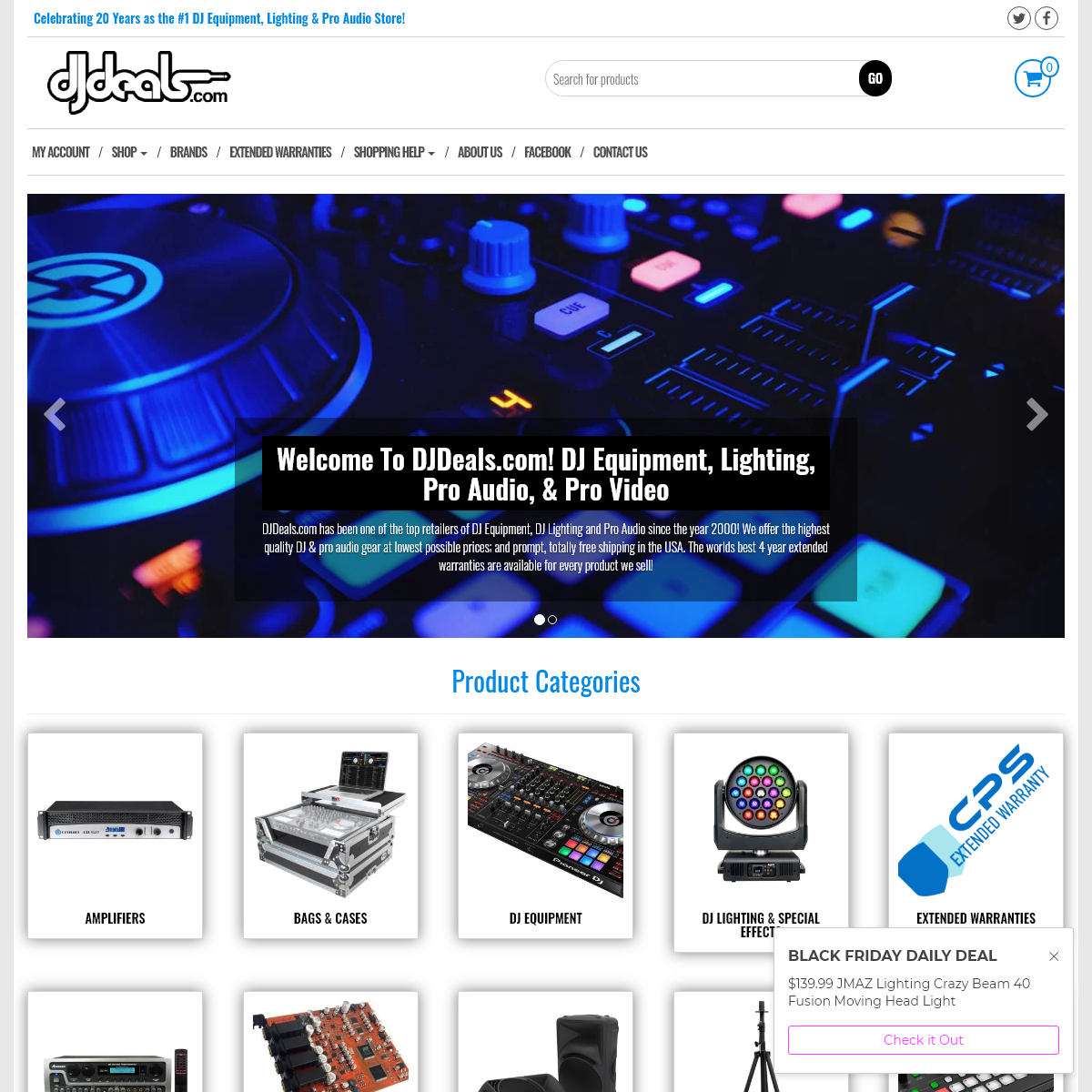 DJDeals.com Professional DJ Equipment, DJ Lighting, Pro Audio Store