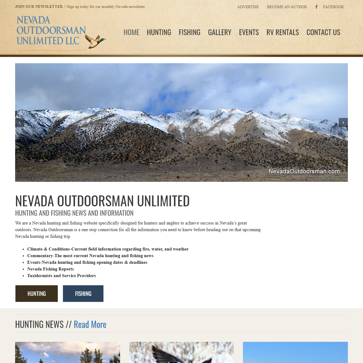 Nevada Outdoorsman Unlimited - Helping You Hunt and Fish Nevada`s Great Outdoors