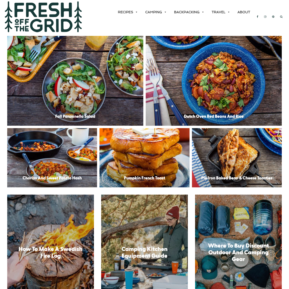 Fresh Off the Grid- Camping Food & Recipes
