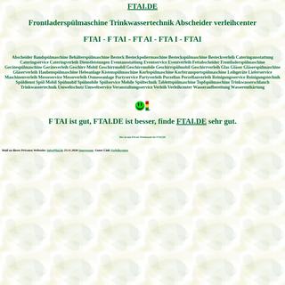 ftai Frontladerspülmaschine Trinkwassertechnik Abscheider verleihcenter Spülmobil Verleih Geschirrmobil Mieten