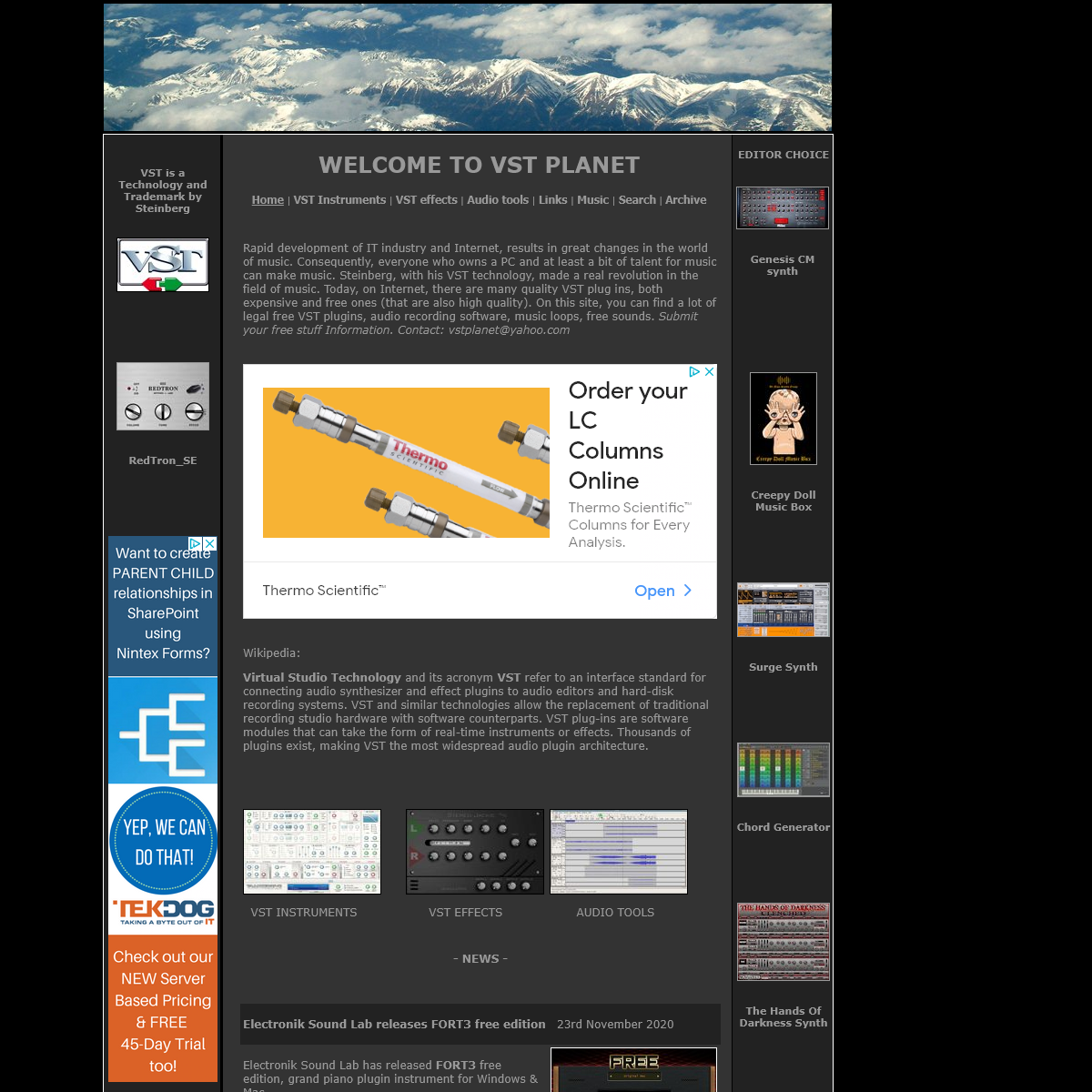 Free VST Plugins - Virtual instruments and effects - VSTPLANET